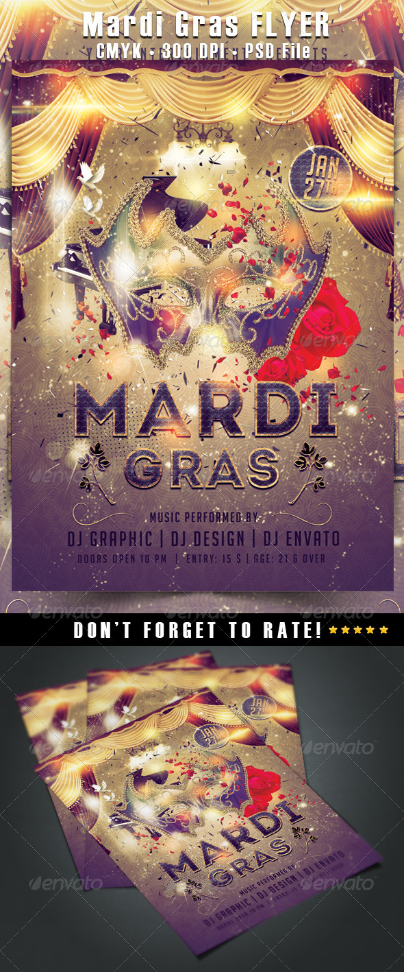 GraphicRiver Mardi Gras Flyer 6536737