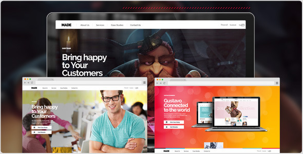 ThemeForest MADE Parallax One Page portfolio Fullscreen 6552370