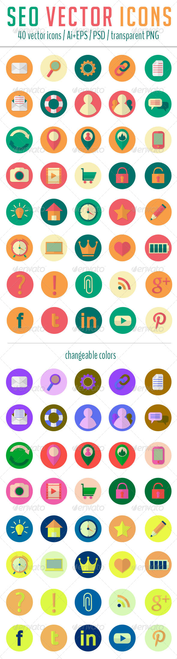 GraphicRiver SEO Icons 6552518