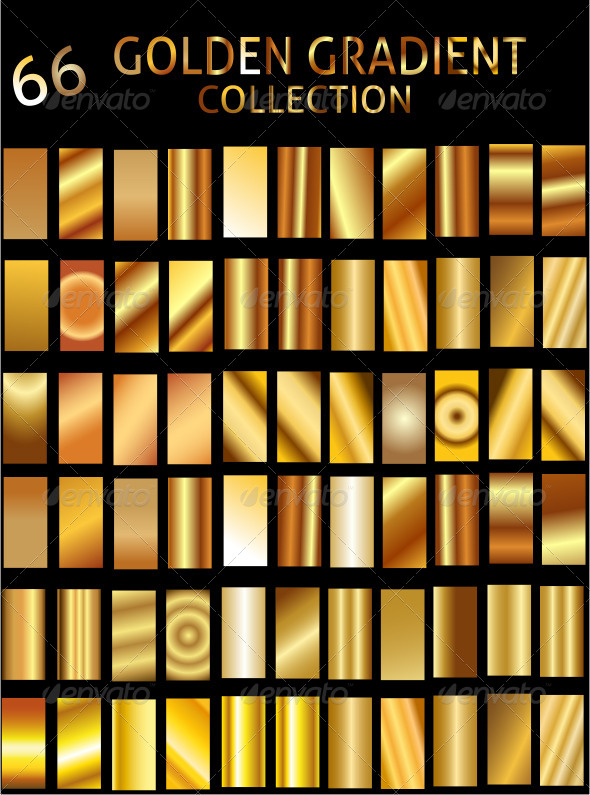 GraphicRiver Illustrator Golden Gradient Collection 6552652