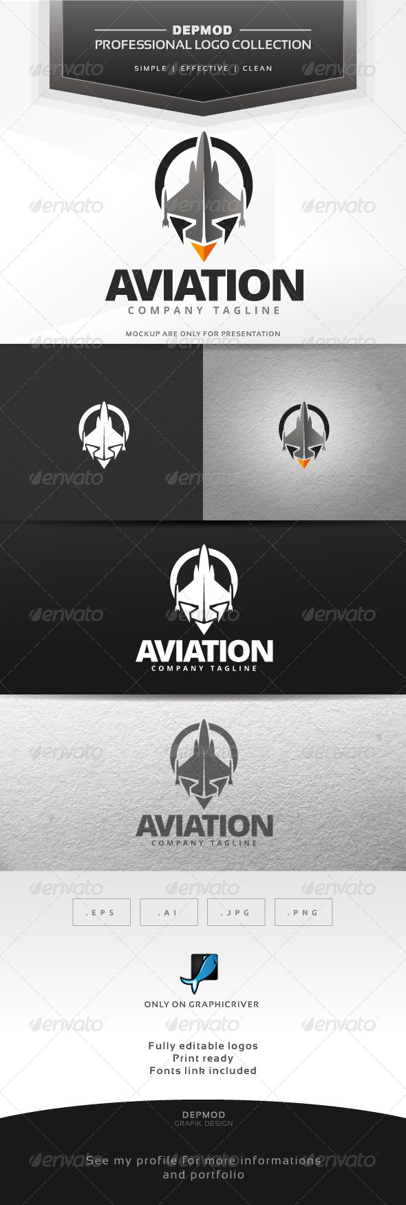 GraphicRiver Aviation Logo 6552678