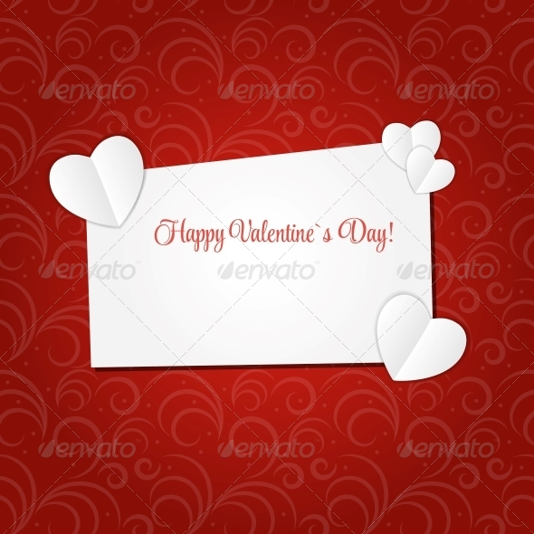 GraphicRiver Happy Valentines Day Card with Heart 6552749