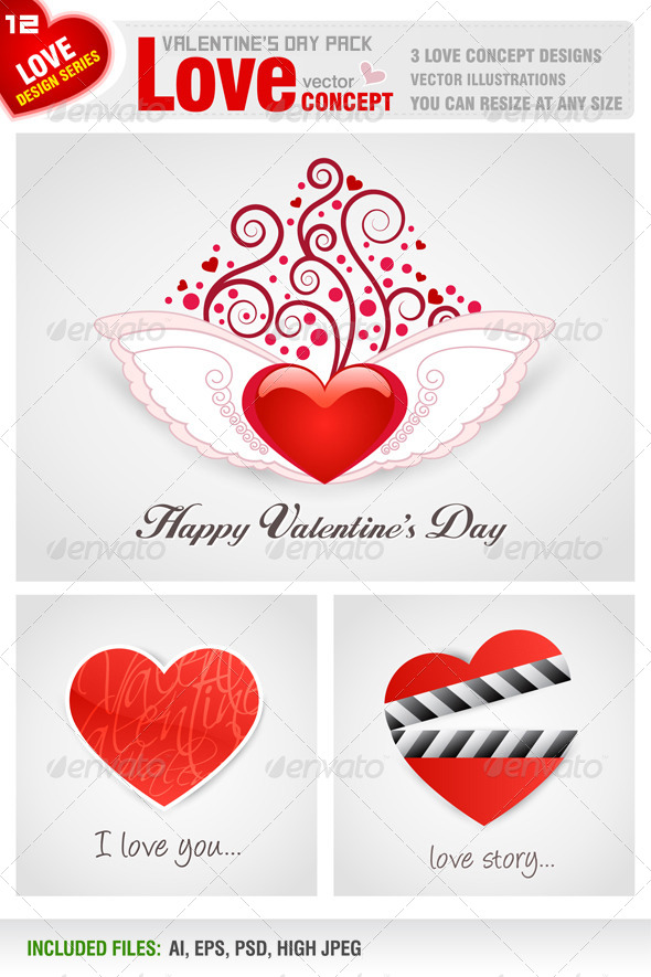 GraphicRiver Valentine s Day Pack 6552769