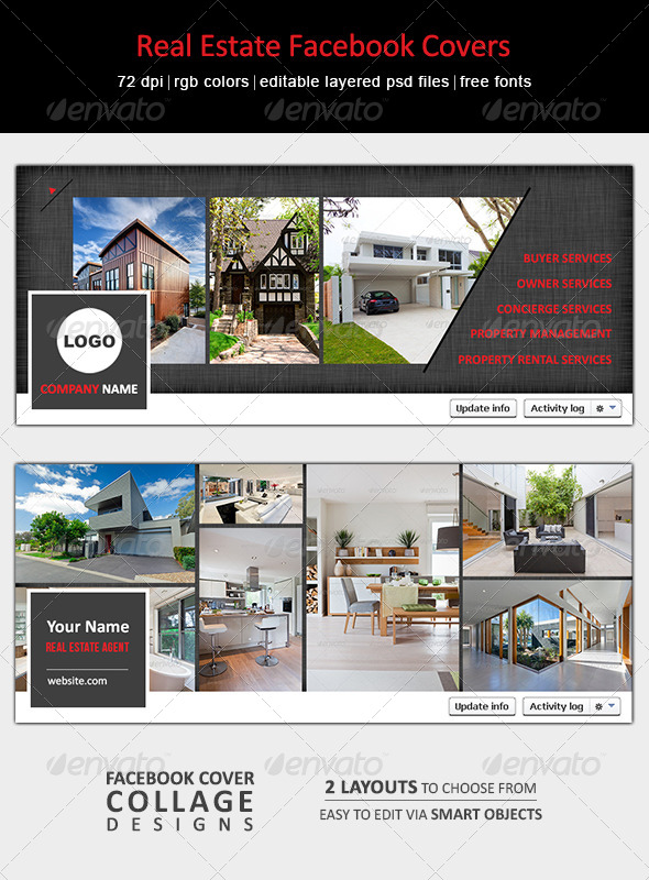 GraphicRiver Real Estate Facebook Covers 6552822