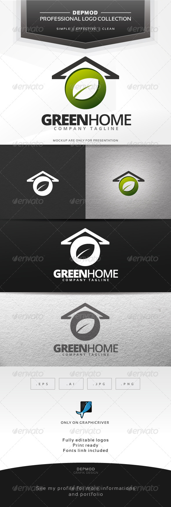 GraphicRiver Green Home Logo 6553023