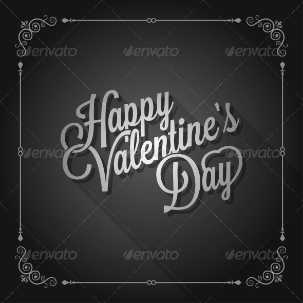 GraphicRiver Valentines Day Vintage Movie Design Background 6553353