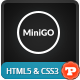 MiniGO - Uber Minimal Flat Coming Soon Page - ThemeForest Item for Sale