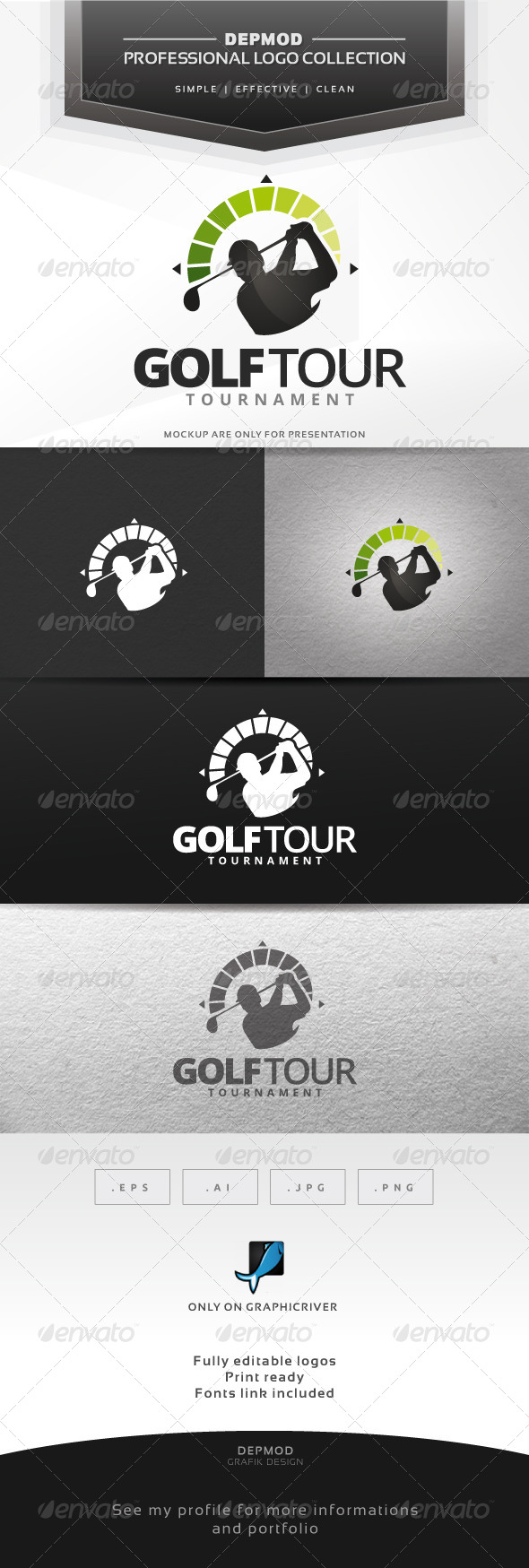GraphicRiver Golf Tour Logo 6554413