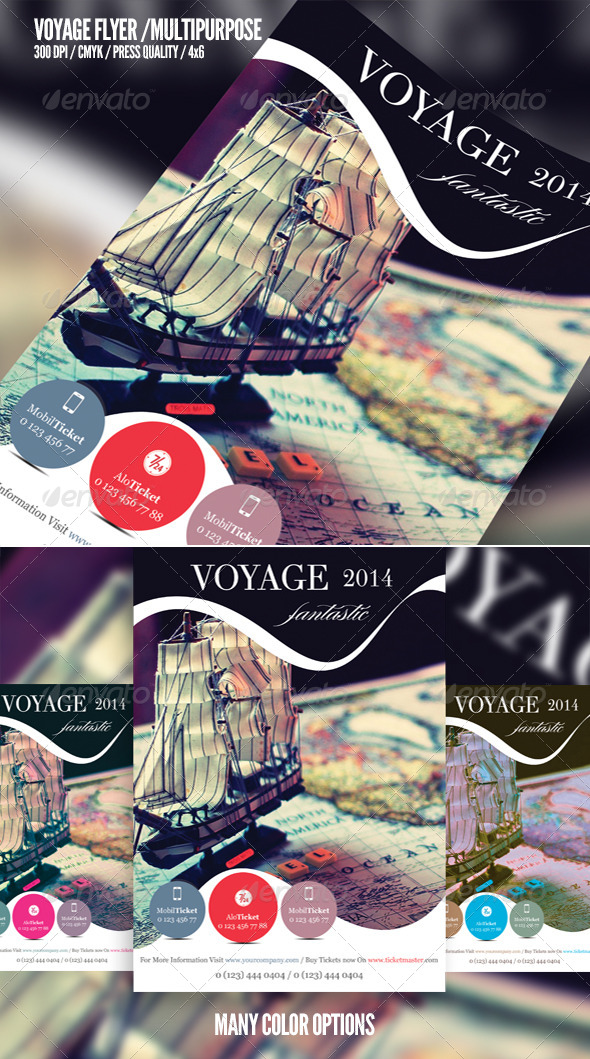 GraphicRiver Voyage Multipurpose Flyer Template 6548038