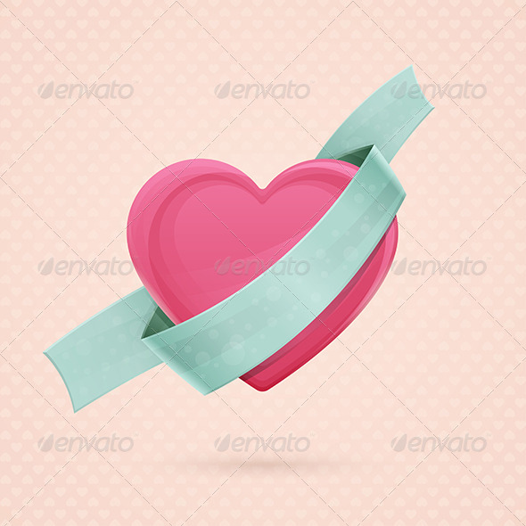 GraphicRiver Heart and Ribbon Two 6554904