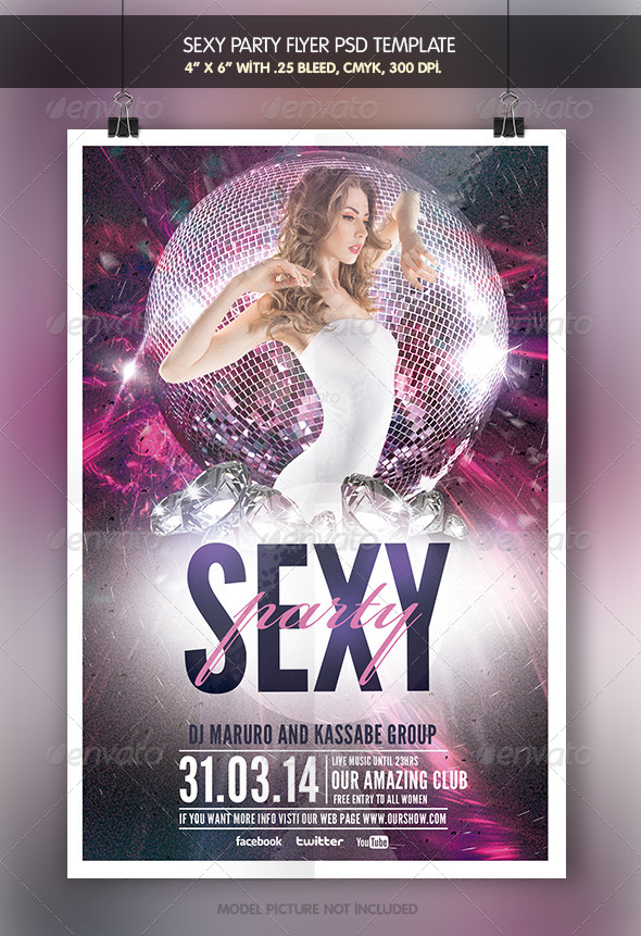 Sexy Party | Flyer Template - Clubs & Parties Events