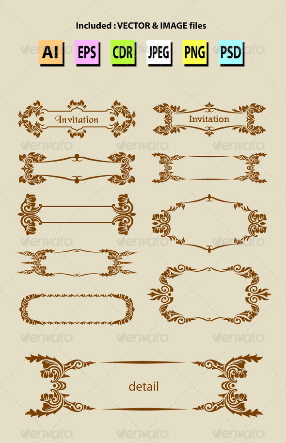 GraphicRiver Label Ornament Decorations 6556539