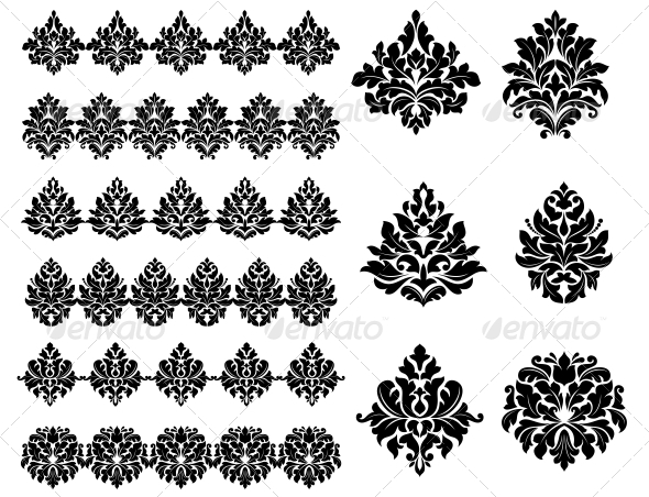 GraphicRiver Floral and Foliate Design Elements 6556652