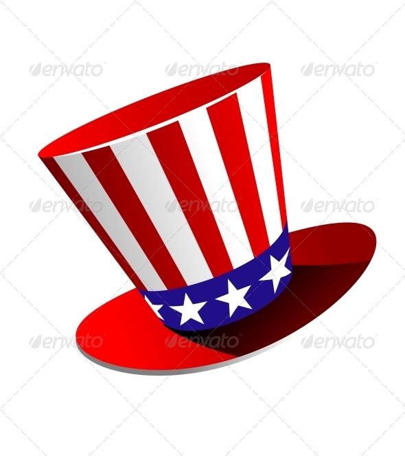 GraphicRiver Patriotic American Top Hat 6556676