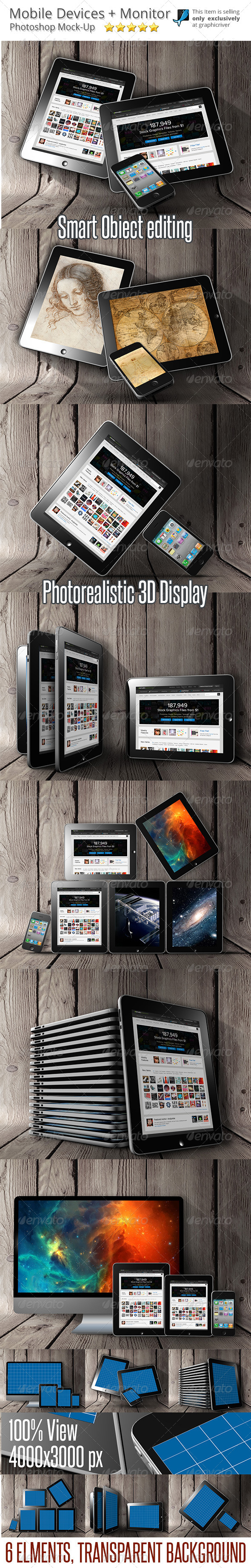 GraphicRiver Mobile Devices Mock-Up 6559131