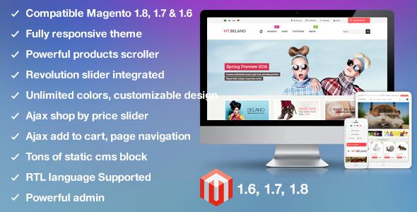ThemeForest MT Belano responsive parallax magento theme 6559501