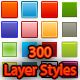 300 Layer Styles for Photoshop - GraphicRiver Item for Sale