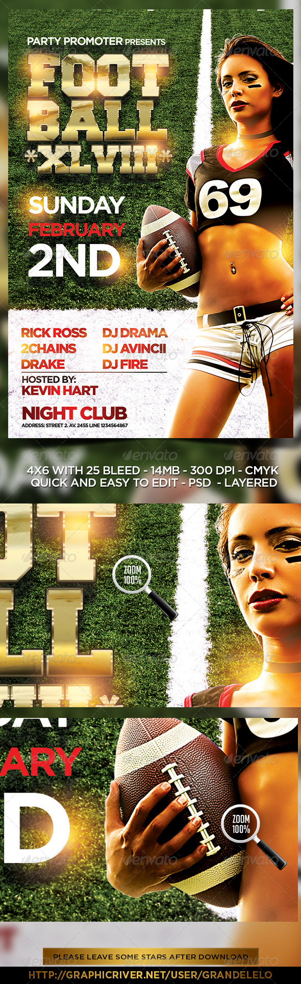 GraphicRiver Football Flyer Template 6549969