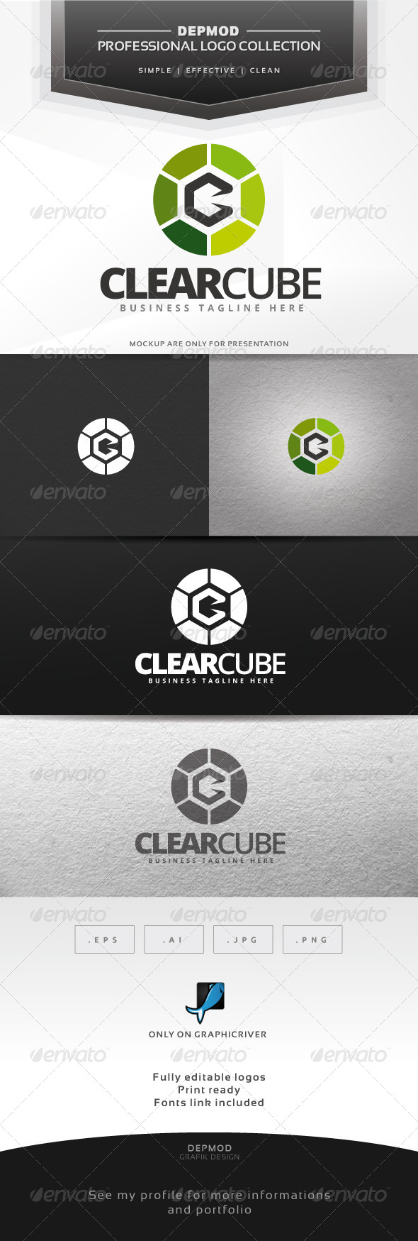 GraphicRiver Clear Cube Logo 6560854