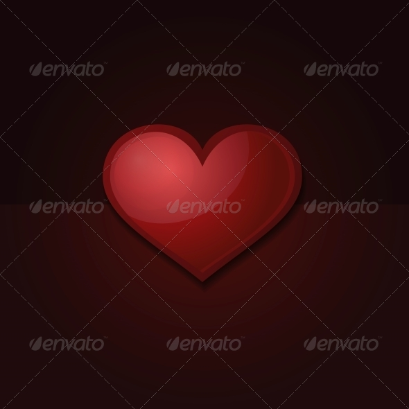 GraphicRiver Valentine s Day Card with Heart 6561166