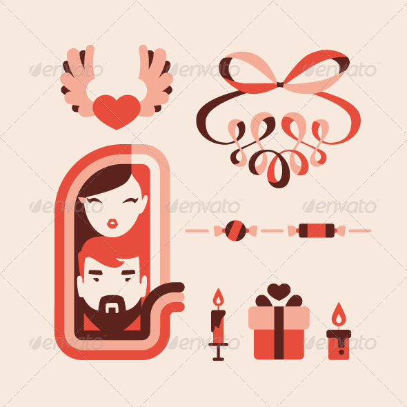 GraphicRiver Love Icons Collection 6561776