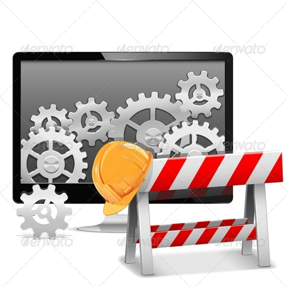 GraphicRiver Computer Repair with Barrier 6561937