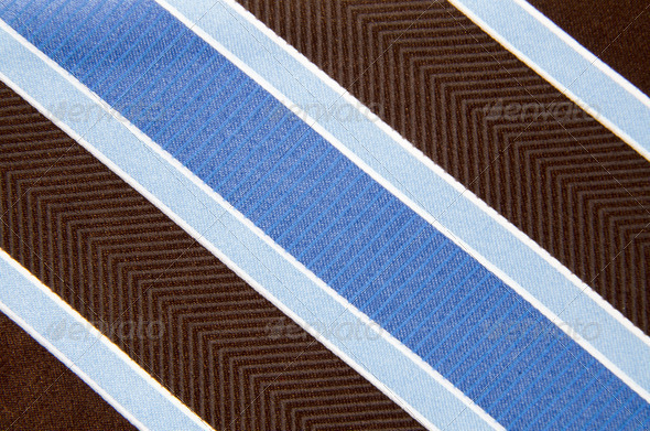 Closeup view of a striped neck tie - Stock Photo - Images