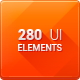 MUI Elements - 280 UI elements in 3 styles - GraphicRiver Item for Sale