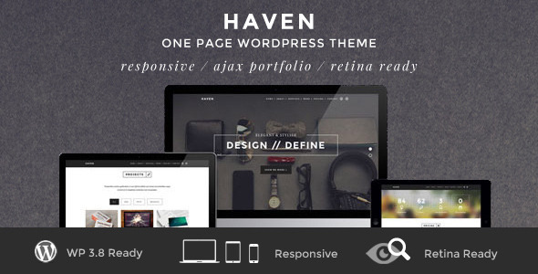 Haven - Elegant One Page WordPress Theme - Creative WordPress