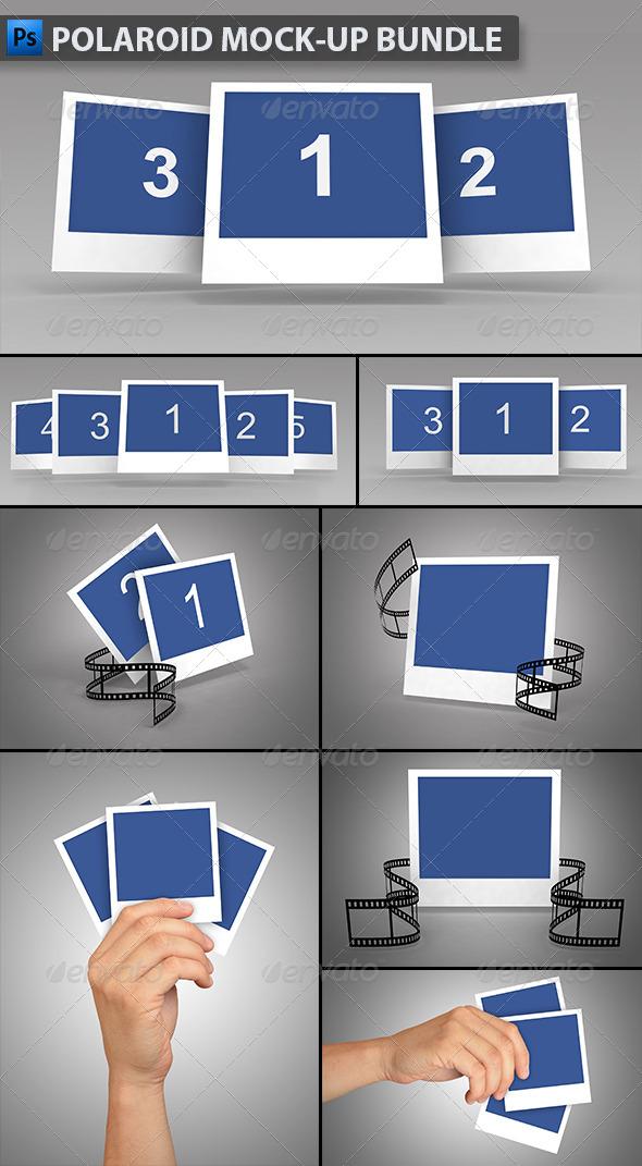 GraphicRiver Polaroid Mock-up Bundle 6563410