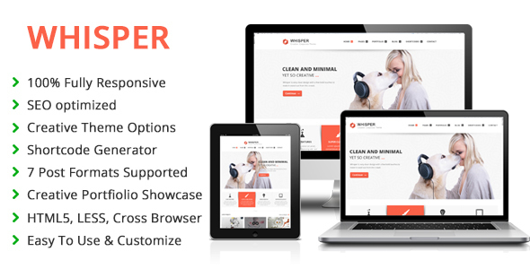 ThemeForest Whisper Responsive Multi-Purpose WordPress Theme 6546851