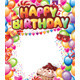 Template for Happy Birthday Card - GraphicRiver Item for Sale