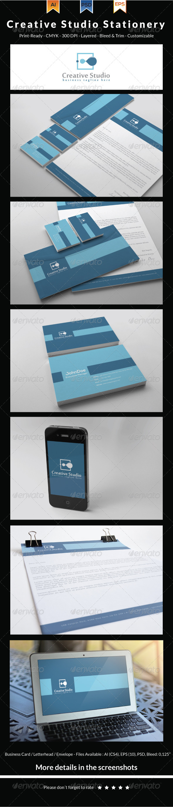 GraphicRiver Creative Studio Stationery 6563692