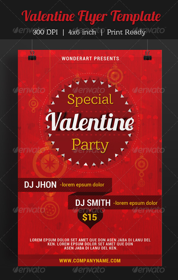 GraphicRiver Valentine Party Invitation Poster Flyer Template 6563816