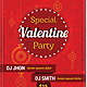 Valentine Party Invitation Poster Flyer Template - GraphicRiver Item for Sale