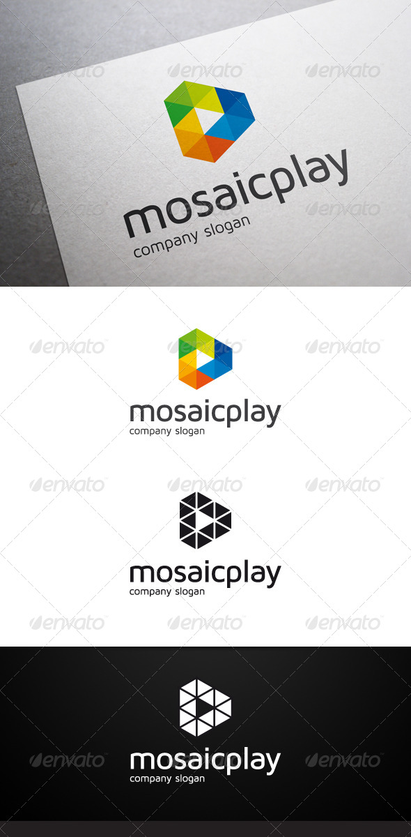 GraphicRiver Mosaic Play Logo V2 6564575