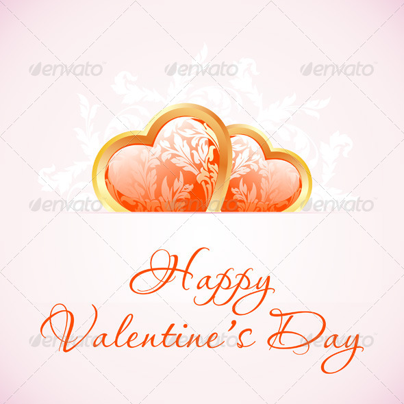 GraphicRiver Happy Valentine s Day Floral Background 6565605