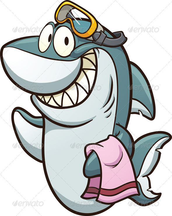 GraphicRiver Shark with Goggles 6566031