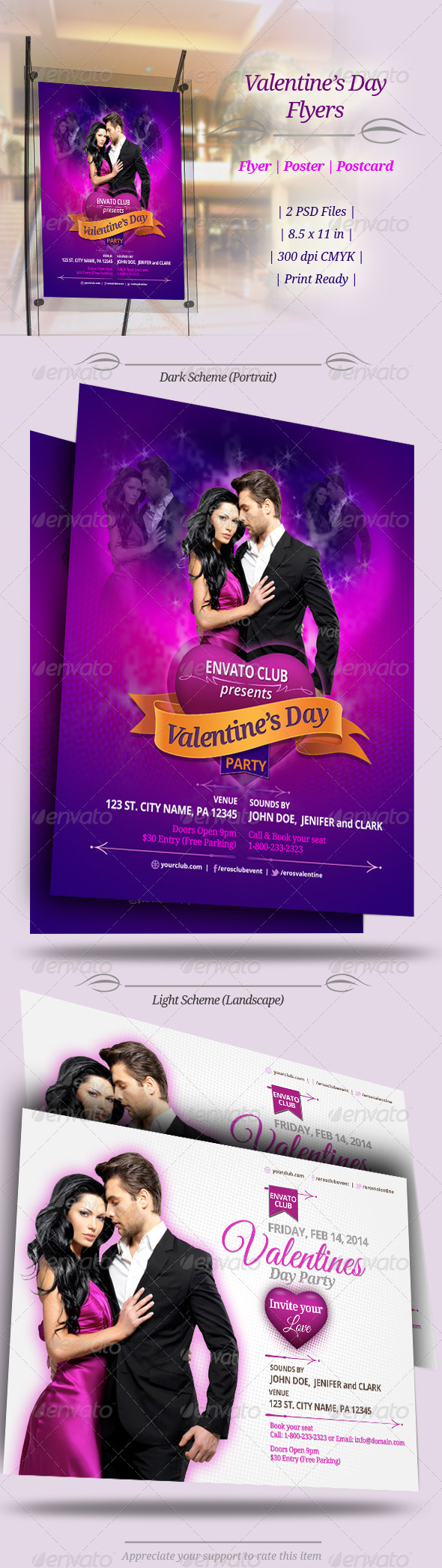 GraphicRiver Valentines Day Party Flyers 6566350