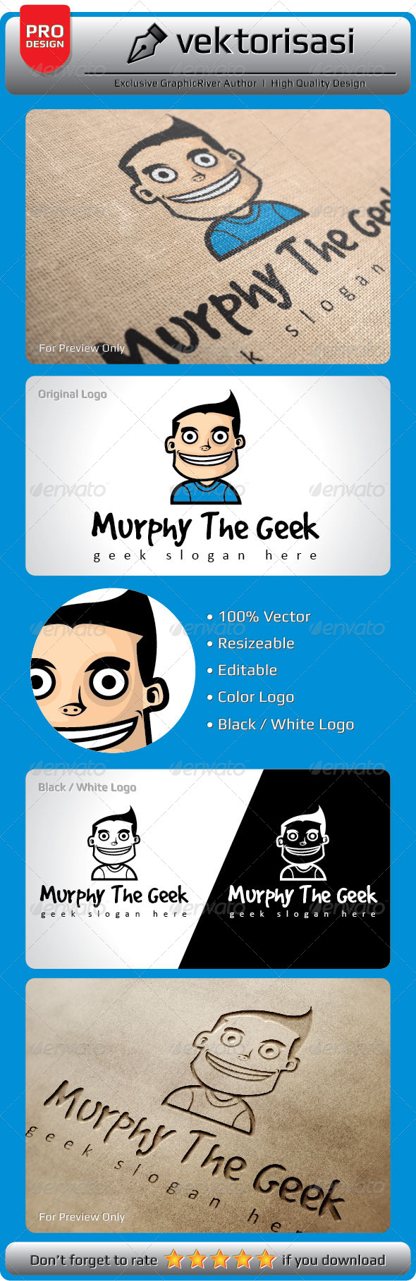 GraphicRiver Murphy the Geek Logo 6566420