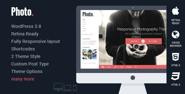 Photo - Responsive Photography WordPress Theme - Photography Creative