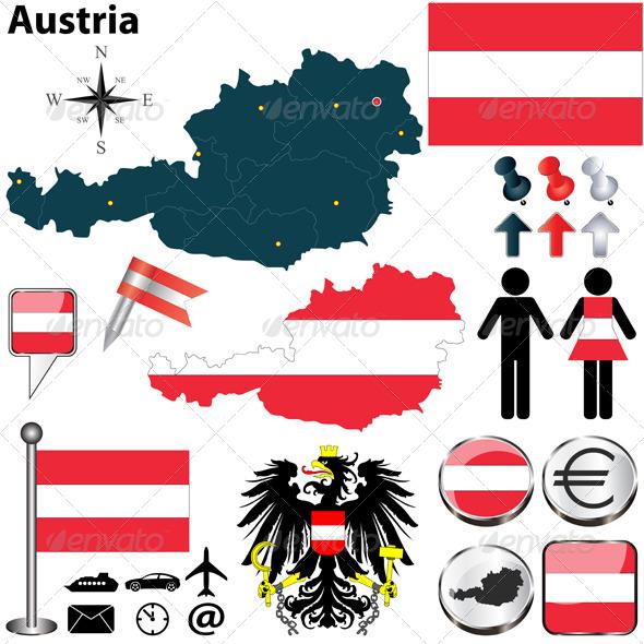 GraphicRiver Map of Austria 6567668