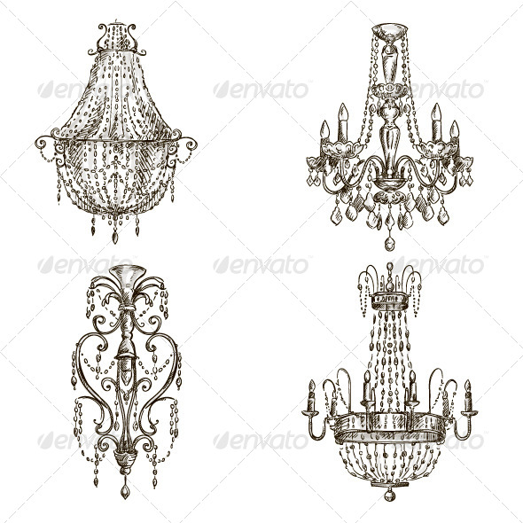 GraphicRiver Chandelier Sketches 6567938