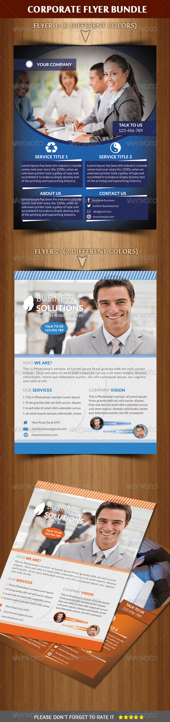 GraphicRiver Corporate Flyer Bundle 6568503