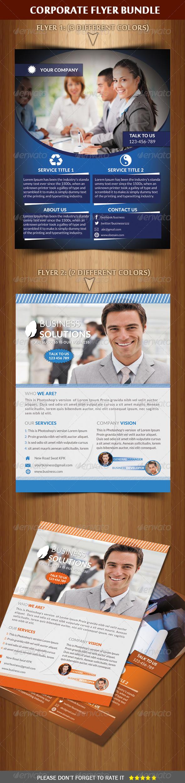 GraphicRiver Corporate Flyer Bundle 6568503