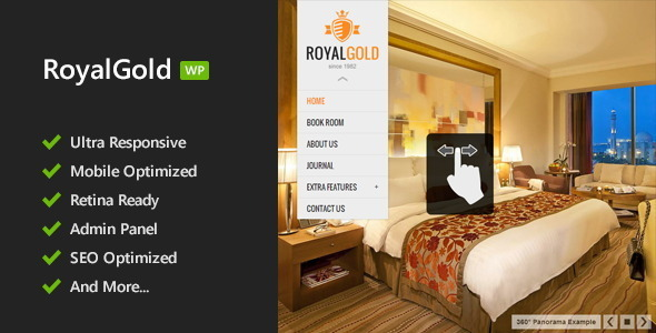 RoyalGold - Unique WordPress Theme - Travel Retail