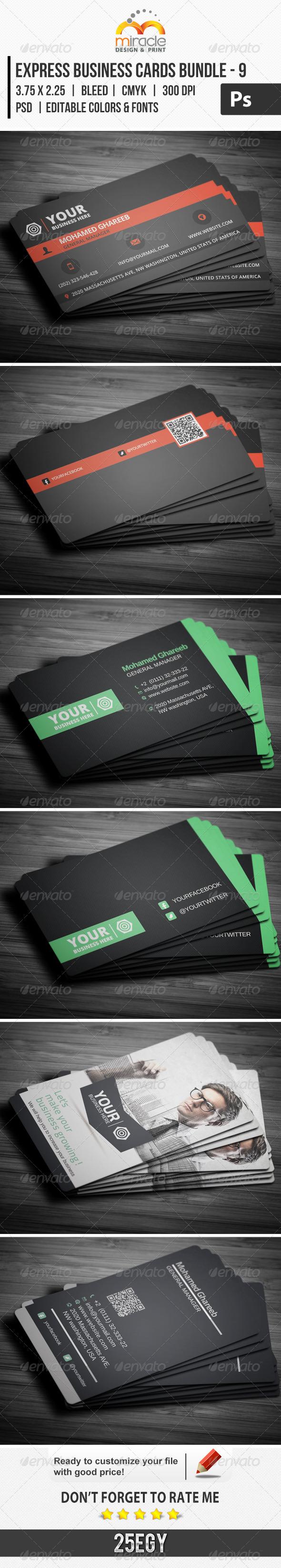 GraphicRiver Express Business Cards Bundle 9 6539358