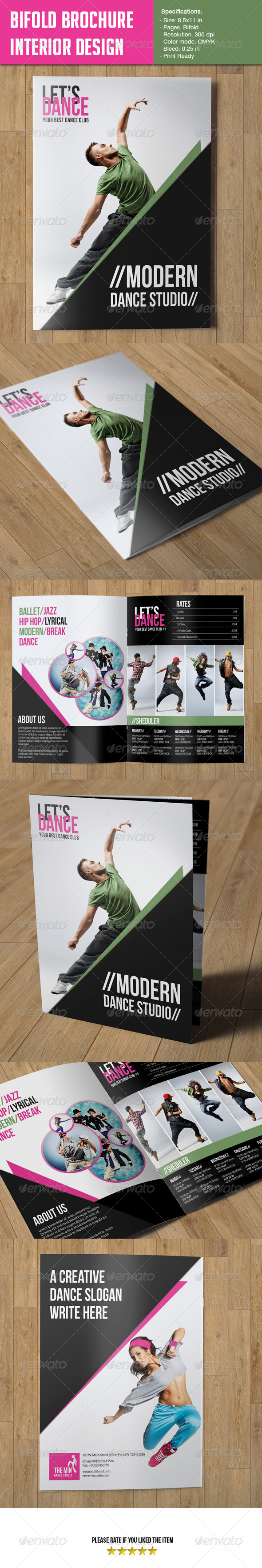 GraphicRiver Bifold Brochure-Dance Studio 6569544