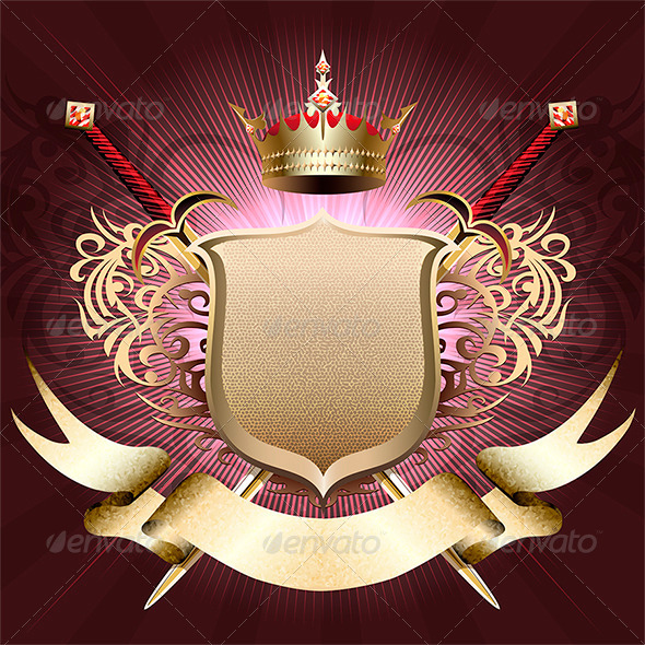 GraphicRiver The Shield with Crown 6569682