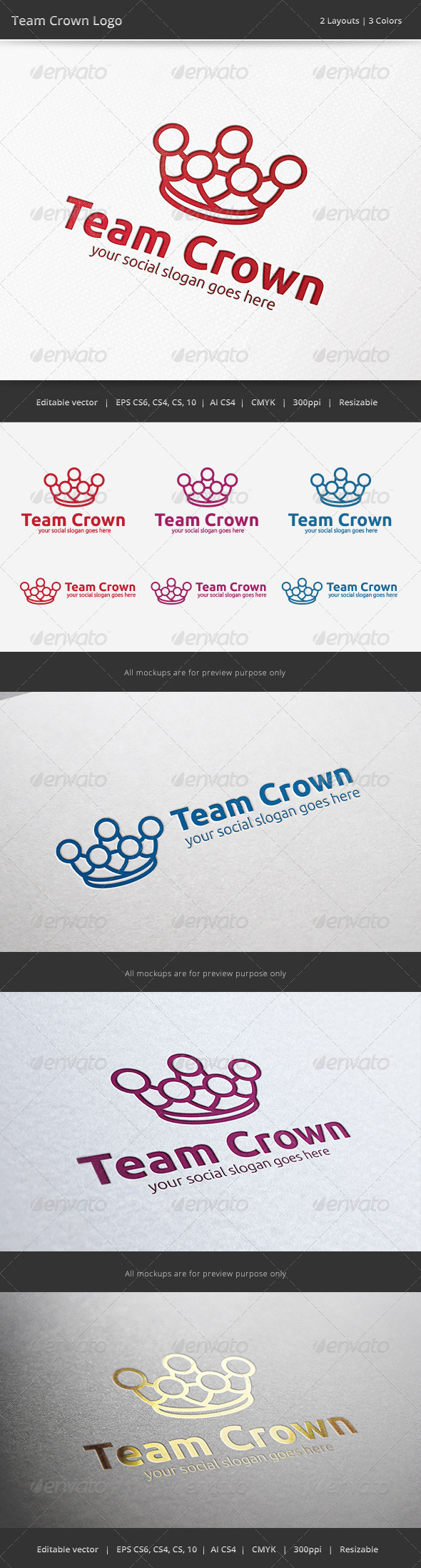 GraphicRiver Team Crown Logo 6569946